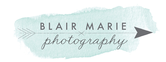 Calgary Wedding & Portrait Photographer // Blair Marie Photography logo