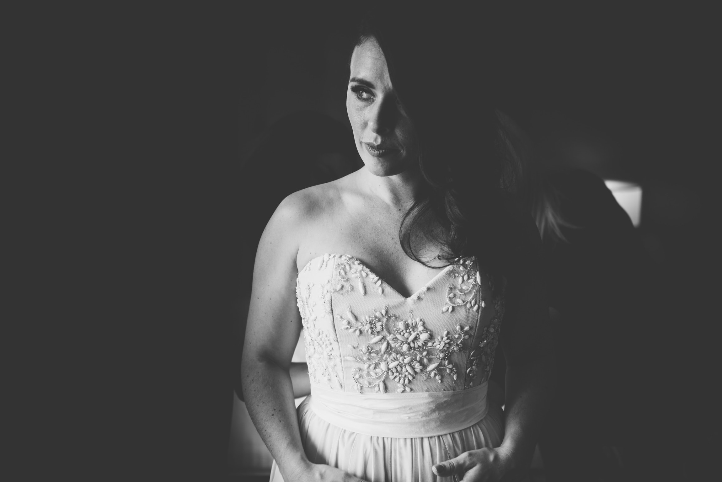 a year in review bride in drastic black and white and truvelle dress